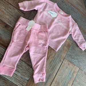 Nwt Gymboree girls pink wave sweatsuit